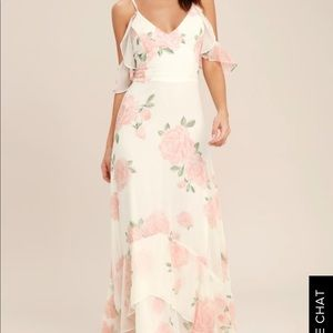 Lulus ivory floral dress